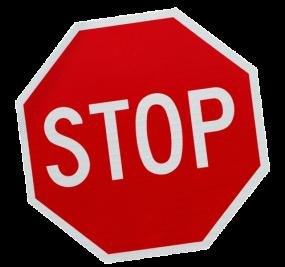 Stopschild-schraeg